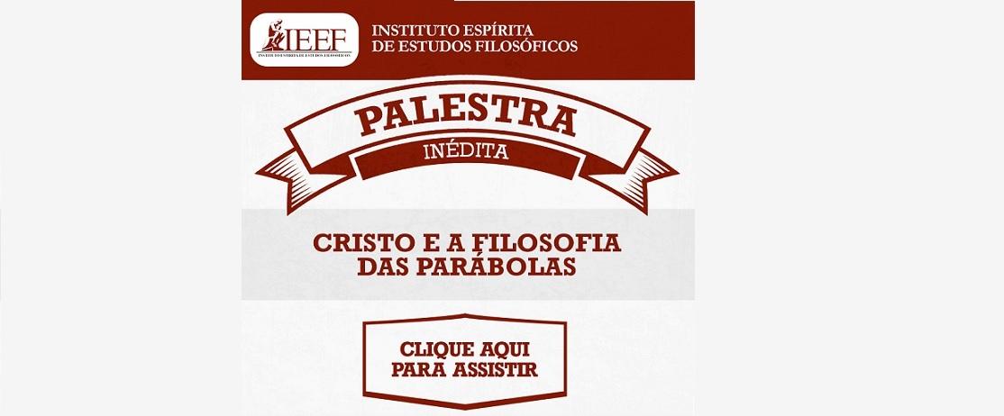 Palestra on-line - Cristo e a Filosofia das Parábolas