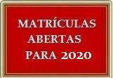 Matrículas Abertas 2020