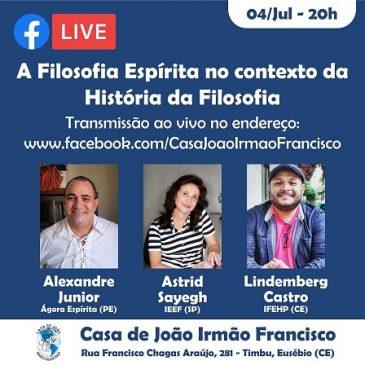 Live Astrid Sayegh – Facebook Casa de João Irmão Francisco  em 04/07/2020