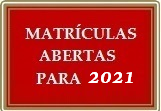 Matrículas Abertas 2021 – Cursos On-Line